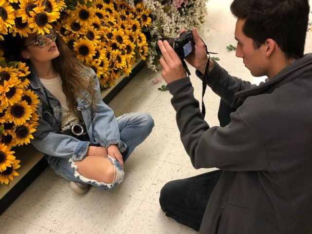 PHOTO: Clay Daugherty took pictures of his friend at Hobby Lobby as part of the viral internet challenge.