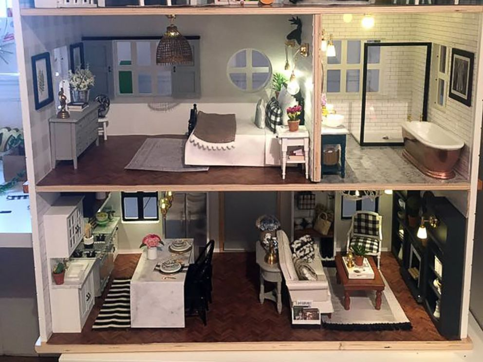Woman Makes Incredible Fixer Upper Inspired Dollhouse