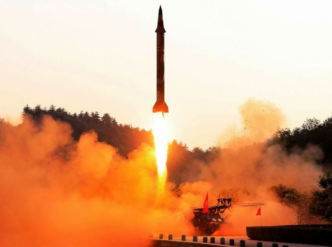 Image result for kim j un fires rockets again