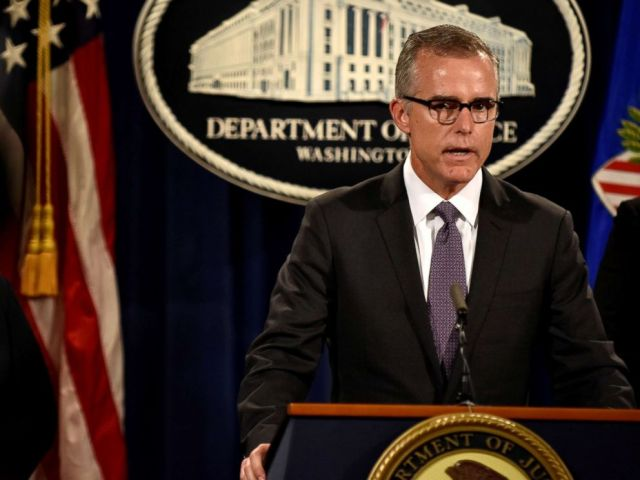 PHOTO: FBI Deputy Director Andrew McCabe details the filing of civil forfeiture complaints, on July 20, 2016, in Washington.