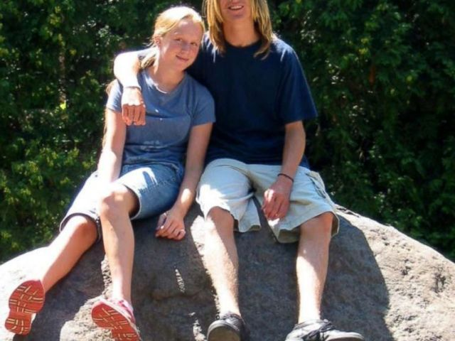PHOTO: Andrew around age 16 with his younger sister at summer camp in Wisconsin.