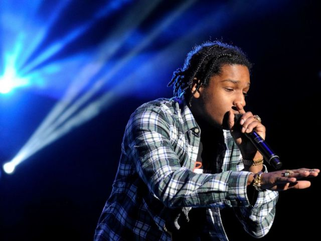 PHOTO: A$AP Rocky performs at Fiddlers Green Amphitheatre in Denver, Colorado, April 20, 2015.