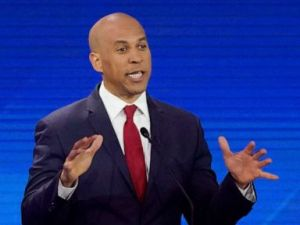 PHOTO: Democratic presidential candidate Sen. Cory Booker answers a question, Sept. 12, 2019, during a Democratic presidential primary debate hosted by ABC at Texas Southern University in Houston.