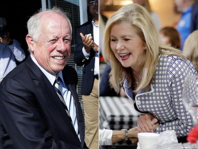 PHOTO: Former Gov. Phil Bredesen campaigns, Aug. 1, 2018, in Memphis, Tenn., in his bid for U.S. Senate.Republican U.S. Rep. Marsha Blackburn campaigns, Aug. 2, 2018, at a cafe in Brentwood, Tenn.
