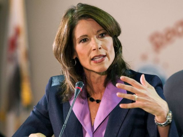 In this Oct. 17, 2012 file photo, U.S. Rep. Cheri Bustos, D-Ill., speaks in Rockford, Ill.
