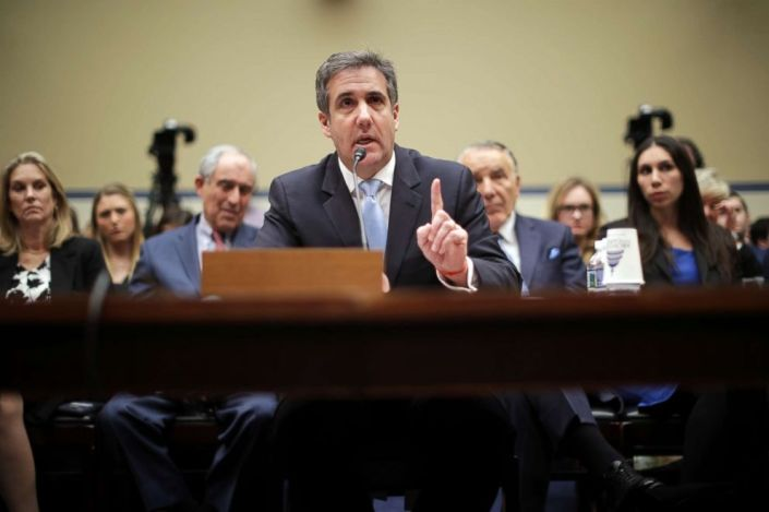Michael Cohen, the former attorney, and fixer for President Donald Trump testifies before the House Oversight Committee on Capitol Hill, Feb. 27 2019, in Washington, D.C.
