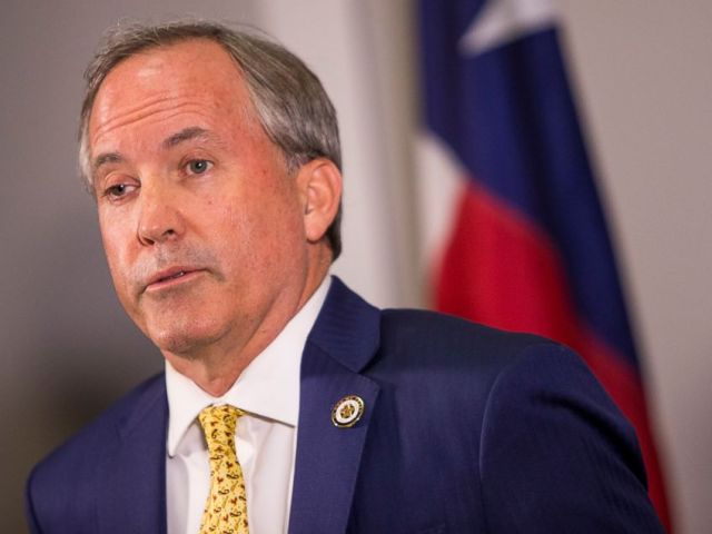 PHOTO: Texas Attorney General Ken Paxton speaks about a lawsuit he filed against the federal government to end DACA during a press conference in Austin, Texas, May 1, 2018. Paxton is leading a seven-state coalition in the lawsuit.