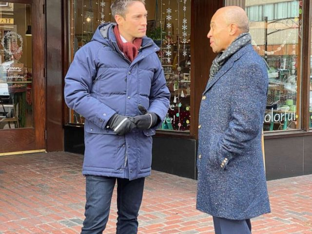 PHOTO: Deval Patrick speaks with ABC News, Nov. 14, 2019, in Manchester, NH.