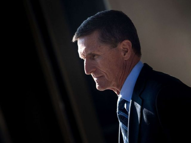 PHOTO: Gen. Michael Flynn, former national security adviser to US President Donald Trump, leaves Federal Court in Washington, D.C., Dec. 1, 2017.