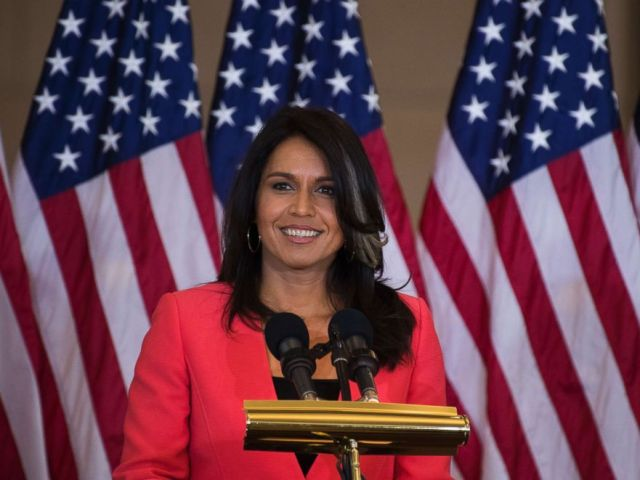 PHOTO: Rep. Tulsi Gabbard, D-Hawaii, attends a Congressional Gold Medal ceremony in Emancipation Hall to honor Filipino veterans of World War II, Oct. 25, 2017.