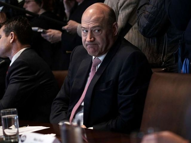PHOTO: Director of the National Economic Council Gary Cohn listens during a meeting between President Donald Trump and congressional members in the Cabinet Room of the White House, Feb. 13, 2018 in Washington.