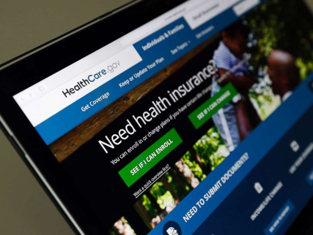 PHOTO: The Healthcare.gov website is seen on a laptop computer on May 18, 2017 in Washington, D.C.