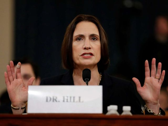NFL PHOTO: Former White House national security aide Fiona Hill testifies before the House Intelligence Committee on Capitol Hill in Washington, Nov. 21, 2019.