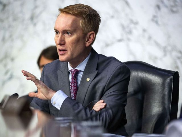 PHOTO: Sen. James Lankford questions retired Vice Adm. Joseph Maguire during a Senate Intelligence Committee confirmation hearing, to become the director of the National Counterterrorism Center, on Capitol Hill, on July 25, 2018 in Washington, D.C.