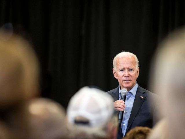 PHOTO: Democratic presidential candidate and former US Vice President Joe Biden addresses a crowd at a town hall event at Clinton College, Aug. 29, 2019, in Rock Hill, South Carolina.