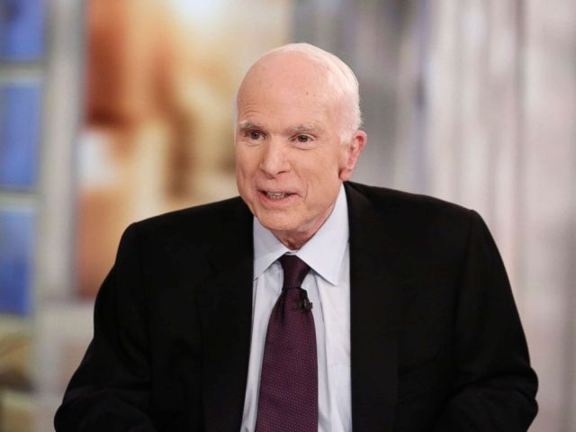 PHOTO: Sen. John McCain on The View, which aired Oct. 23, 2017 on ABC Television Network.