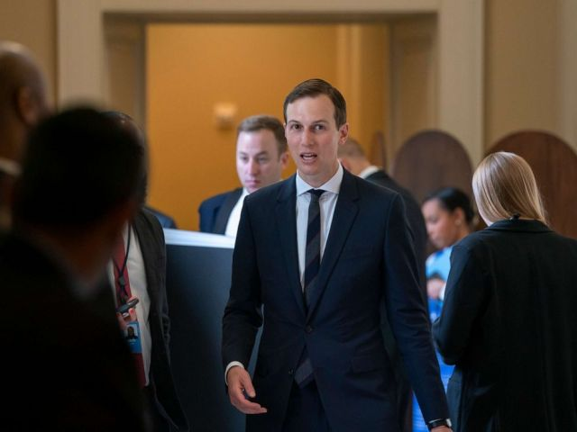 PHOTO: President Donald Trumps senior adviser, and son-in-law, Jared Kushner, departs the Capitol after a meeting with Senate Republicans, May 14, 2019.