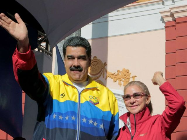 PHOTO: A photo made available by Miraflores Press Office shows President of Venezuela Nicolas Maduro greeting followers during an event in Caracas, Venezuela, Sept. 12, 2019.