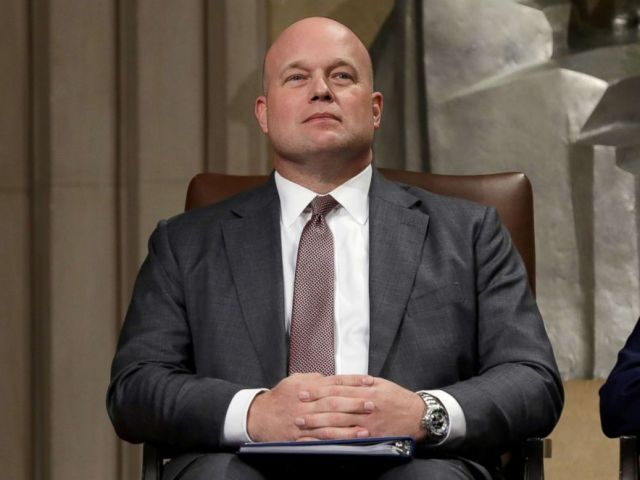 PHOTO: Acting Attorney General Matthew Whitaker attends the Annual Veterans Appreciation Day Ceremony at the Justice Department in Washington, Nov. 15, 2018.