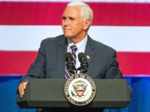 PHOTO: Vice President Mike Pence speaks at a campaign event for Rep. Cathy McMorris Rodgers at the Spokane Convention Center, Oct. 2, 2018, in Spokane, Wash.