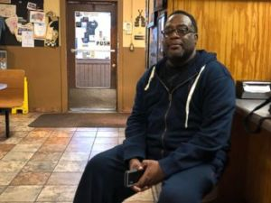 PHOTO: Thomas Reed, from Shelby, Miss., sits in a barbecue restaurant in Clarksdale, Miss., Oct. 26, 2018.