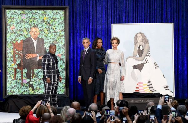 Image result for barack and michelle obama portrait national gallery