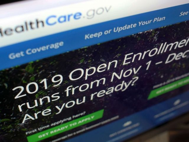 PHOTO: This Oct. 23, 2018, file photo shows HealthCare.gov website on a computer screen in New York.