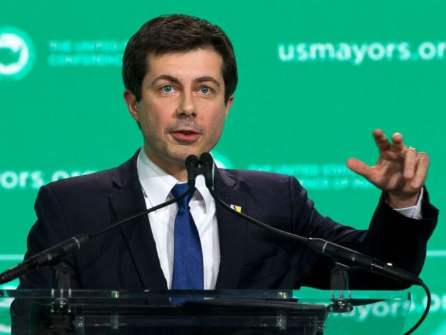 PHOTO: Pete Buttigieg, Mayor of South Bend, Ind., speaks during the U.S. Conference of Mayors winter meeting in Washington, D.C., Jan. 24, 2019.