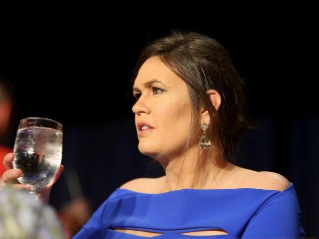 PHOTO: Sarah Huckabee Sanders attends the 2018 White House Correspondents Dinner at Washington Hilton on April 28, 2018 in Washington.