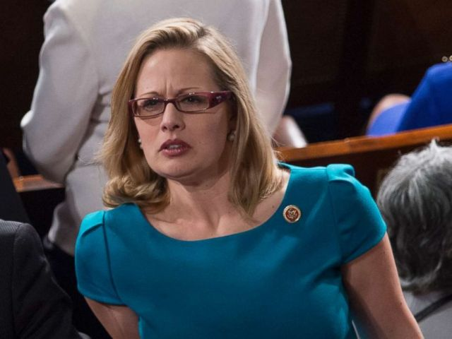 PHOTO: Krysten Sinema, D-Ariz. at President Barack Obamas the State of the Union Address to a joint session of Congress, Feb. 12, 2013.