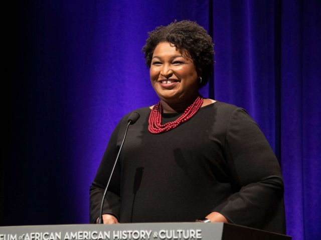 PHOTO: Stacey Abrams speaks at the 2019 Womens E3 Summit at National Museum Of African American History & Culture on June 13, 2019 in Washington, D.C.