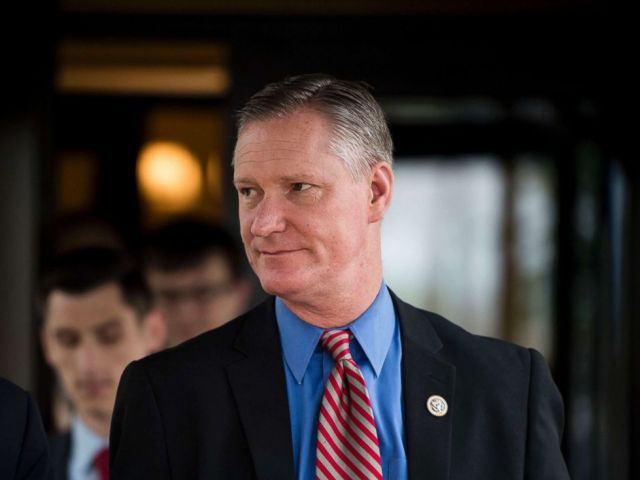 PHOTO: Rep. Steve Stivers, R-Ohio, leaves the House Republican Conference meeting at the Capitol Hill Club, May 16, 2018.