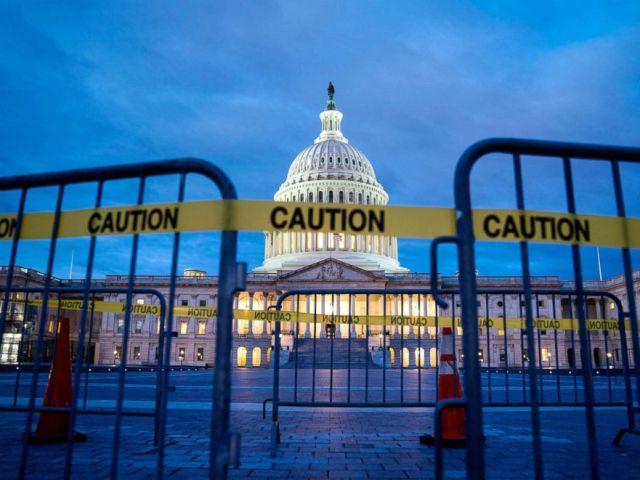 PHOTO: The U.S. Capitol is pictured on the first morning of a partial government shutdown in Washington, D.C., Dec. 22, 2018.
