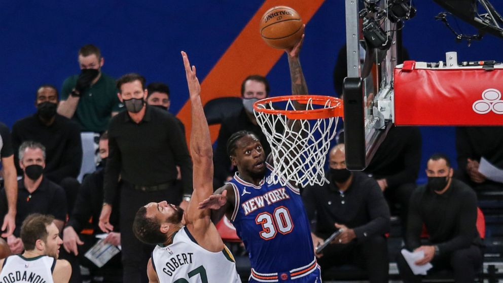 Rivers rallies Knicks past Jazz 112-100 for 3rd straight win - ABC News