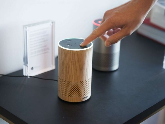 PHOTO: An attendee operates the new Amazon.com Inc. Echo device on display during the companys product reveal launch event in downtown Seattle, Sept. 27, 2017.