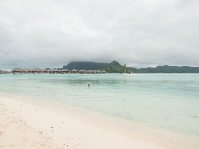 PHOTO: The beach at Four Seasons Resort Bora Bora.