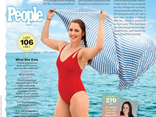 PHOTO: Lauren Council, 26, shares how she lost 106 pounds without any surgery in an interview with People magazine.