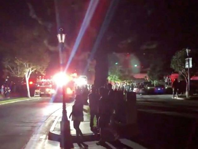 PHOTO: Emergency services are seen following an explosion during California Oktoberfest celebration in Huntington Beach, Calif., Oct. 5, 2019, in this picture obtained from social media video.