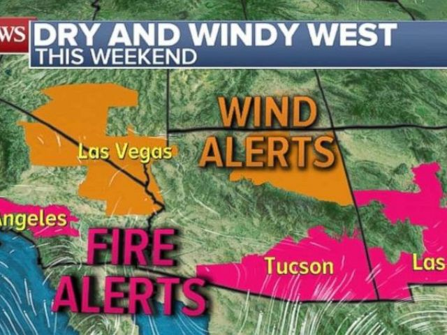 PHOTO: There are fire alerts for parts of southern California and Arizona.