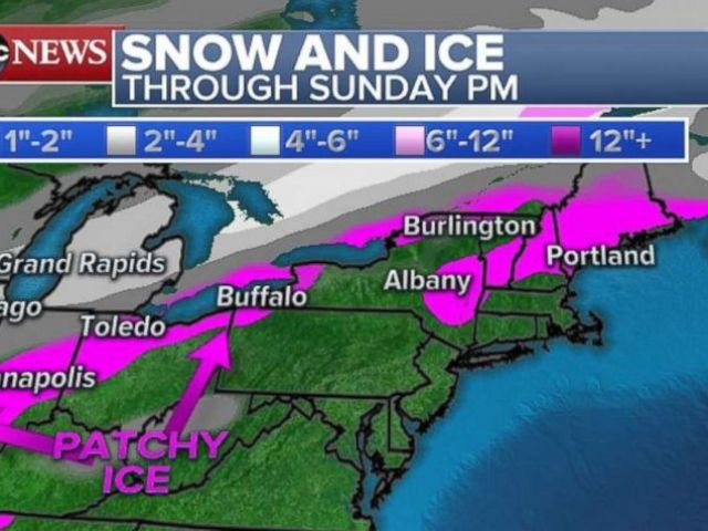 PHOTO: Snow and ice are expected in parts of the Northeast and Midwest.