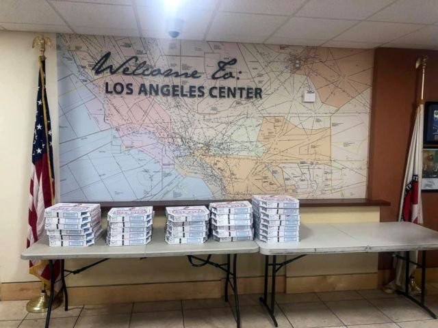 Air traffic controllers in Los Angeles were sent pizzas from their Canadian counterparts as part of a show of solidarity amid the ongoing U.S. government shutdown.