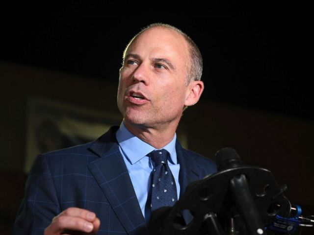 PHOTO: Michael Avenatti speaks to the media outside the Los Angeles Police Department Pacific Division after posting bail for a felony domestic violence charge, Nov. 14, 2018.