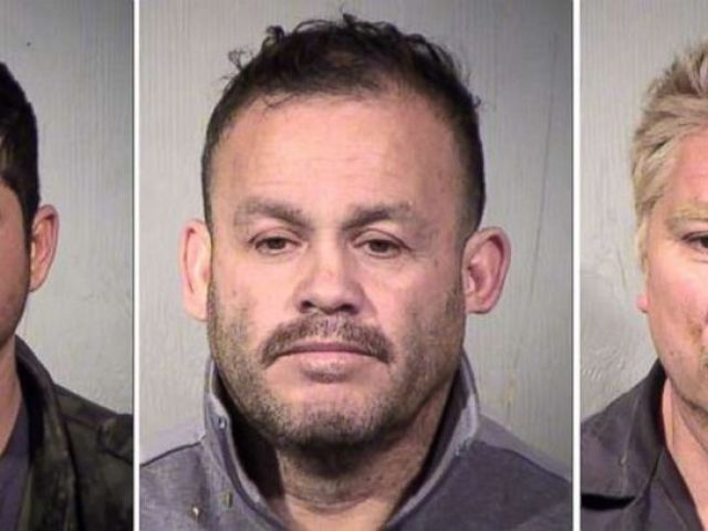PHOTO: From left to right, Jose Jaime Garcia-Lopez, Yoni Ontiveros-Torres and Ruben Espericueta-Jiminez were charged with possession over $2 million in marijuana and methamphetamine after being arrested near Gila Bend, Ariz., on Wednesday, Jan. 31, 2019.