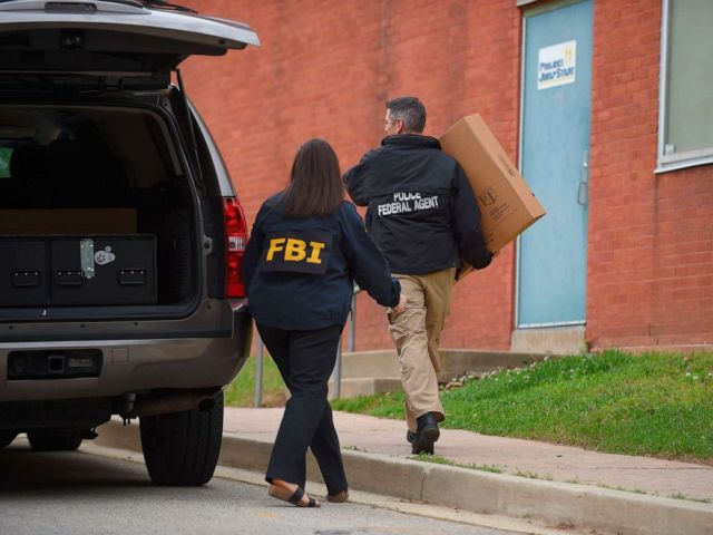 PHOTO: Federal agents arrive at the Maryland Center for Adult Training in Baltimore, Md., April 25, 2019. Agents with the FBI and IRS are gathering evidence inside the two homes of Baltimore Mayor Catherine Pugh and other locations related to the mayor.