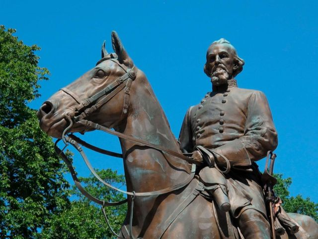 PHOTO: In this Aug. 18, 2017, file photo, a statue of Confederate Gen. Nathan Bedford Forrest sits in a park in Memphis, Tenn.