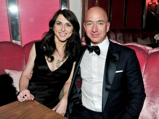 PHOTO: CEO of Amazon Jeff Bezos and his wife MacKenzie Bezos attend the Amazon Studios Oscar Celebration, Feb. 26, 2017, in West Hollywood, Calif.