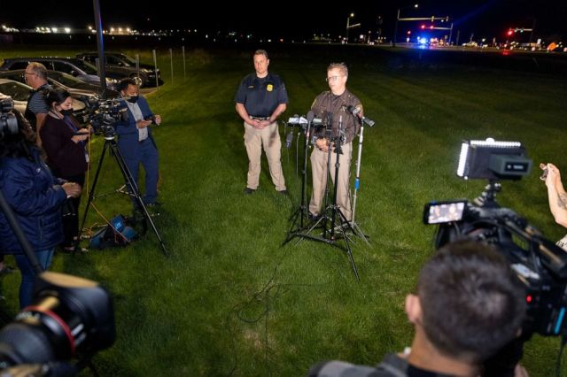 PHOTO: LLt. Kevin Pawlak of the Brown County Sheriff's Office talks to the media about a shooting incident with multiple fatalities at the Oneida Casino near Green Bay, Wis., on May 1, 2021.