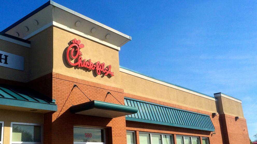 Chick-fil-A restaurant at Jacksonville Beach, Florida.