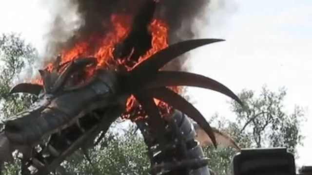 The Dragon Float In The Festival Of Fantasy Parade At Disney World Caught Fire On Friday
