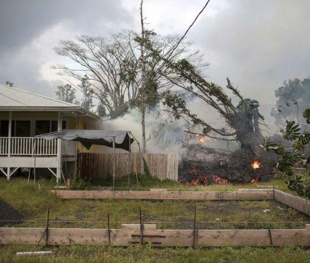 Photo Lava From The Kilauea Volcano Advances Slowly Through A Property In The Leilani Estates